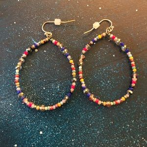 Loft colorful hoop earrings